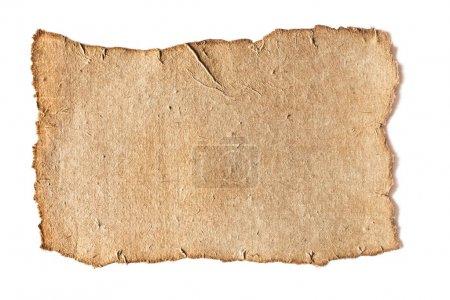 Foto de Textura de papel de grunge en blanco aislado en blanco - Imagen libre de derechos