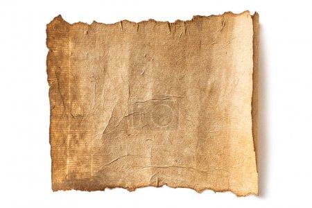 Foto de Textura de papel manuscrito en blanco aislado en blanco - Imagen libre de derechos
