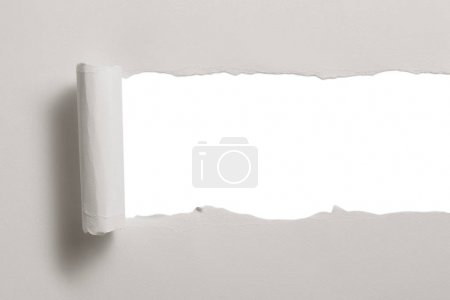 Photo for Blank ragged paper texture isolated on white - Royalty Free Image