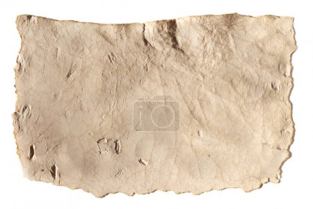 Photo for Blank ancient paper texture isolated on white - Royalty Free Image