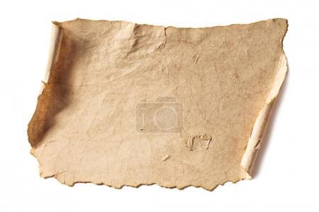 Foto de Textura de papel rústico en blanco aislado en blanco - Imagen libre de derechos