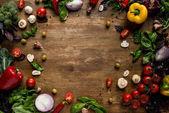 Постер свежие овощи и зелень