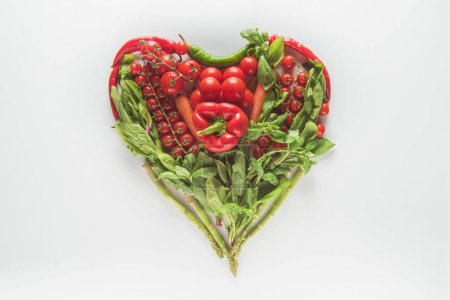 Heart shaped vegetables