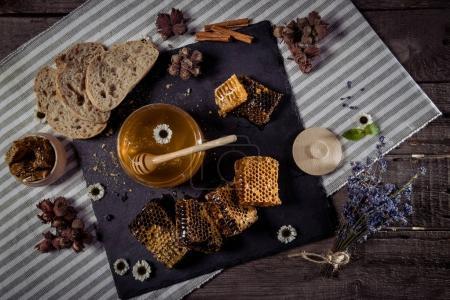 Honey and homemade bread