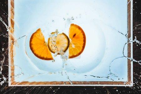 Slices of orange and lemon