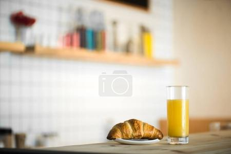juice and croissant