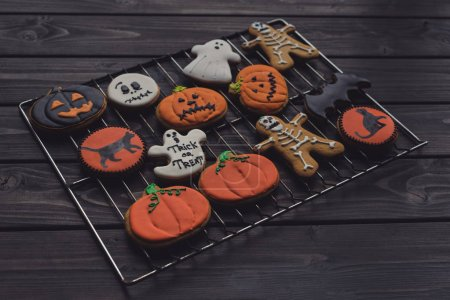 various homemade halloween cookies