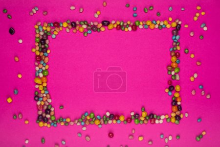 frame of colorful candies