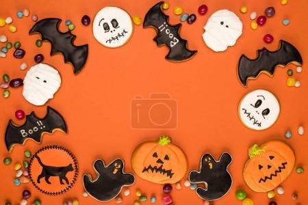 halloween cookies frame