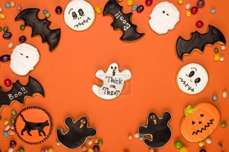 halloween cookies composition