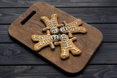 composition of halloween cookies