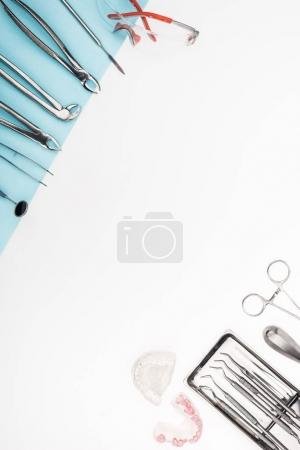 set of dental tools