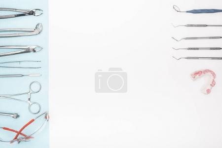 set of dental tools