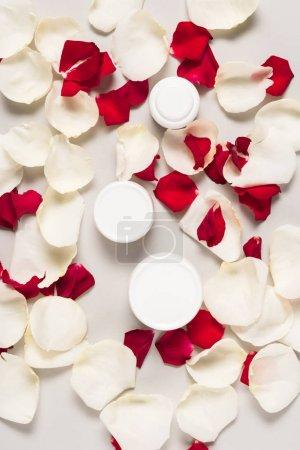 Organic cream on petals