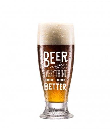 Photo pour Bouchent la vue du verre de bière fraîche avec mousse - image libre de droit