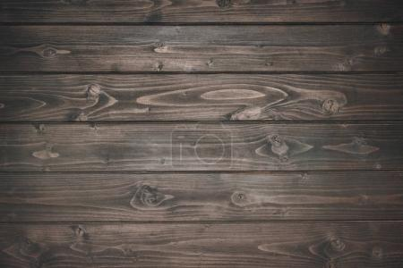 Photo for Top view of dark wooden planks - Royalty Free Image