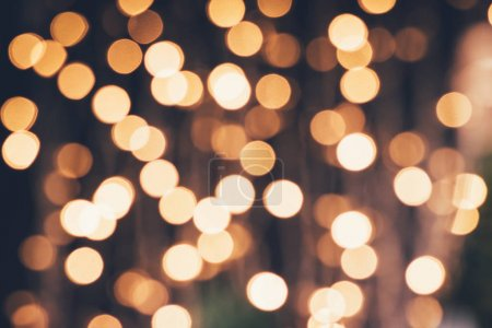 Photo for Defocused christmas festive lights - Royalty Free Image