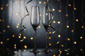 empty wineglasses