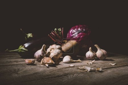 ripe vegetables on table