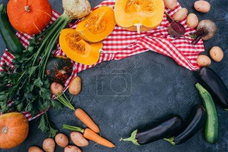 Ripe autumn vegetables
