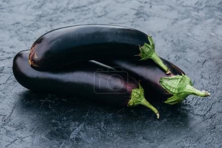 ripe eggplants