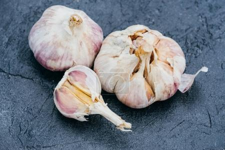 Photo for Top view of raw healthy organic garlic cloves - Royalty Free Image
