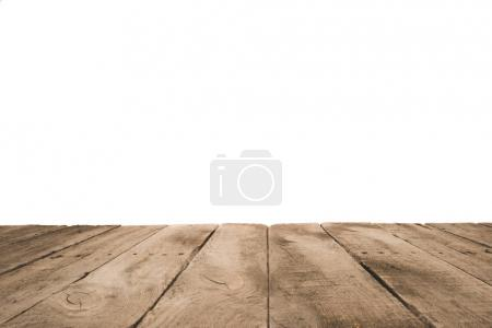 Photo for Grunge wooden planks surface background, isolated on white - Royalty Free Image