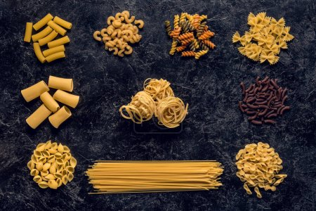 Photo for Flat lay composition of raw pasta variation - Royalty Free Image