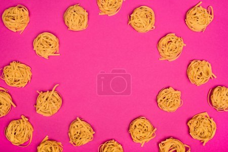 frame of raw pasta