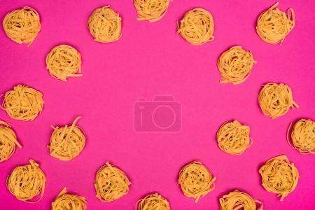 Frame of raw pasta