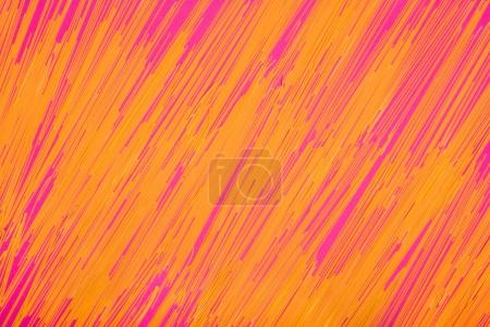 Photo for Flat lay composition of raw spaghetti on pink - Royalty Free Image
