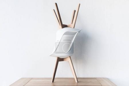 chairs on wooden tabletop