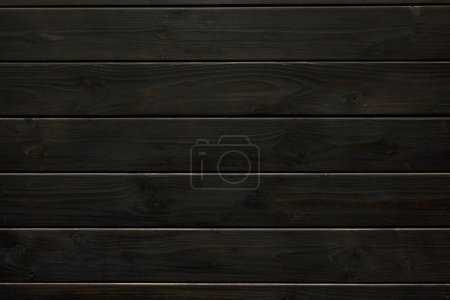 Photo for Full frame of black wooden surface - Royalty Free Image