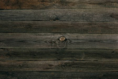 Photo for Natural dark brown wooden planks texture - Royalty Free Image