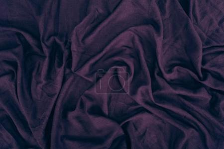 Photo for Close up view of dark purple linen fabric texture - Royalty Free Image
