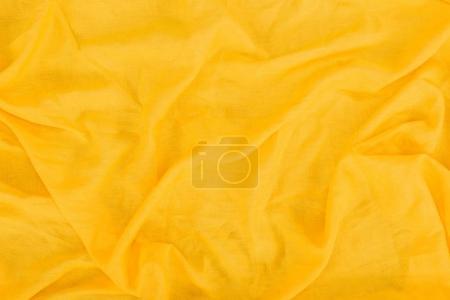 Foto de Cerrar vista de textura de la tela de lino amarillo - Imagen libre de derechos