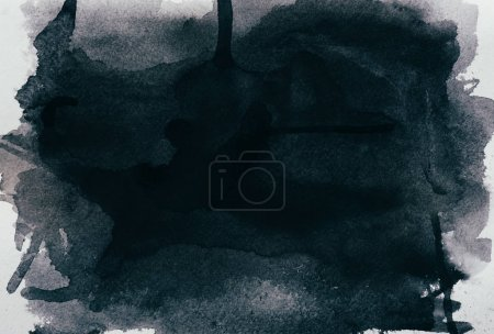 Photo pour Bouchent la vue de la texture aquarelle noir - image libre de droit