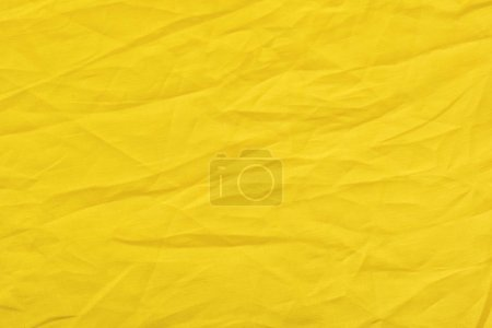 Photo for Close up view of yellow linen fabric texture - Royalty Free Image
