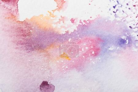 Photo for Close up view of colorful watercolor stains background - Royalty Free Image