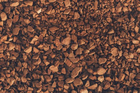 Photo for Brown instant coffee texture or background - Royalty Free Image