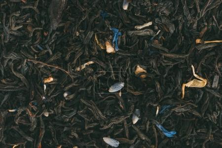 Photo for Texture of flavored black tea with herbs - Royalty Free Image