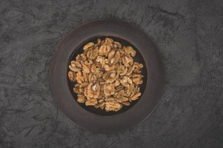 shelled walnuts in bowl