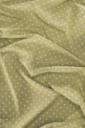 Photo for Elegant silky fabric with polka dots as background - Royalty Free Image