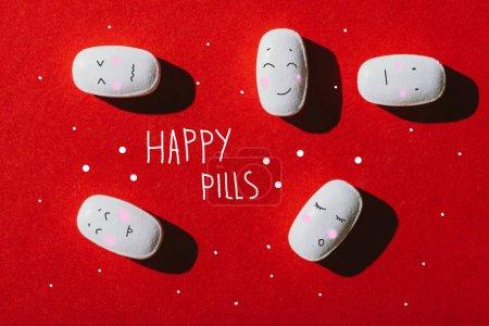 white medical pills