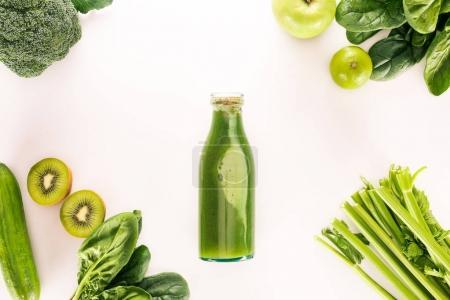 detox drink and organic food