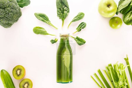 Entgiftungsgetränk und Bio-Lebensmittel