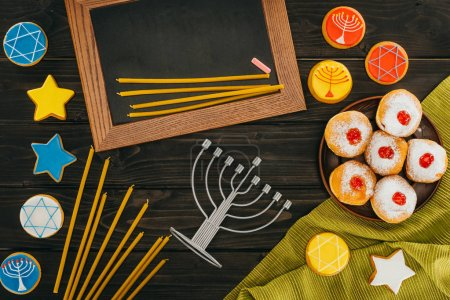 hanukkah celebration with frame