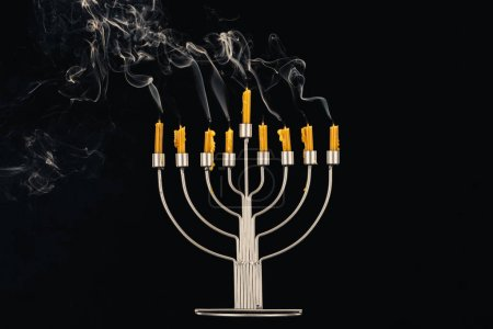 menorah and candles for hanukkah