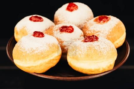 sweet donuts with jelly