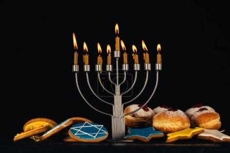 traditional jewish menorah